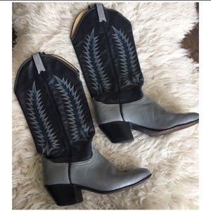 Black & Grey Cowboy Boots *re-posh*